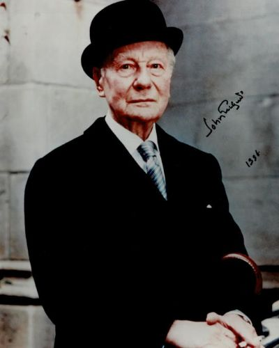 John Gielgud Autograph Signed Photo